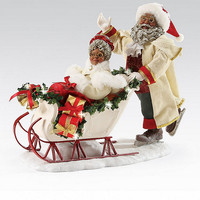Possible Dreams African American Wonderland of Snow Santa FIigurine | Dillards