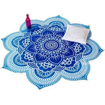 4 Styles Lotus Flower Indian Mandala Tapestry Decorative Wall Hanging Blanket Boho Beach Throw Towel Hippie Yoga Mat Bedspread