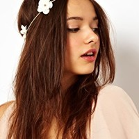River Island Flower Garland Head Band at asos.com