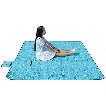 "59*79"" Large Waterproof Picnic Fleece Blanket"
