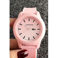 Lacoste new men and women models simple fashion jelly color quartz watch