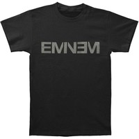 Eminem Men's  New Logo Black T-shirt Black Rockabilia