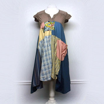 Bohemian Dress, Upcycled Clothing, Unique Clothing, Patchwork Clothing, Bohemian Clothing, Sustainable Clothing for Women