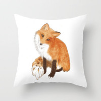 Fox Throw Pillow by Kate Rosemary | Society6