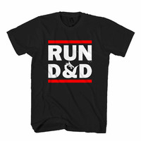 RUN D&D Dungeons and Dragons Fantasy Gaming 1 Man's T-Shirt