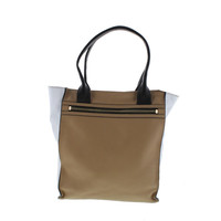 Botkier Womens Honore Leather Colorblock Tote Handbag