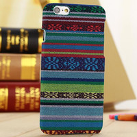 Handmade Flloral Cloth Ethnic Style iPhone 6 6s Case Cover Plus Gift-171