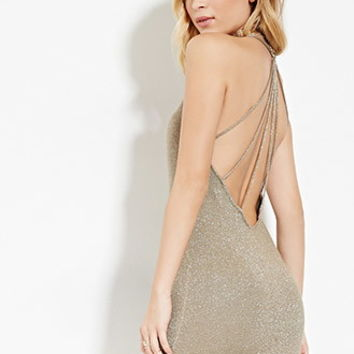 WYLDR Metallic Knit Mini Dress
