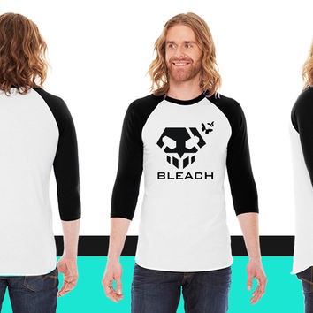 Bleach Skull Anime American Apparel Unisex 3/4 Sleeve T-Shirt