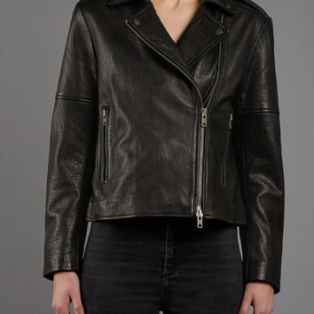 Muubaa Healey Black Leather Biker Jacket