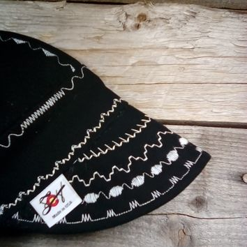 Johnny Cash Inspired One of a Kind Canvas size 7 1/2 welding cap