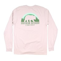 Bear Long Sleeve Tee in Oyster Gray by Southern Outdoor Co. - FINAL SALE