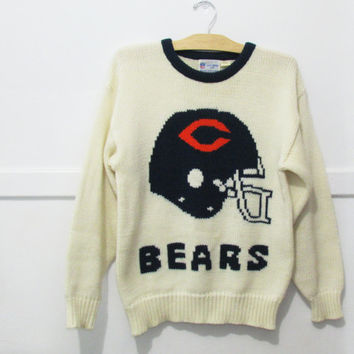 Cliff Engle Chicago Bears Sweater Vintage 80s