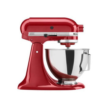 Kitchenaid Red, Black, Silver Tilt-Head Stand Mixer Food processor