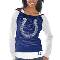 Indianapolis Colts Womens Holy Long Sleeve T-Shirt and Tank Top – Royal Blue/White