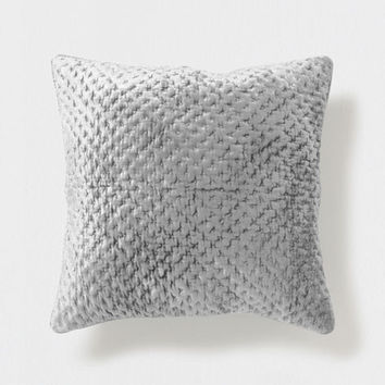 Gray top-stitched velvet quilt and pillow cover - Decorative Pillows - Bedroom | Zara Home United States