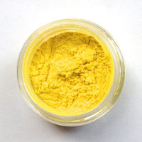 Eye Shadow, Yellow, Cosmetics, Mineral Makeup, Handmade Beauty Products, Homemade Bright Eye Makeup, Pigmented