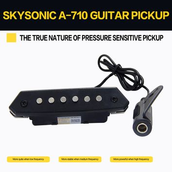 Skysonic A-710 Above 90mm Sound-hole Magnetic Passive Pickup for Acoustic Guitar Fingerstyle, playing, solo guitar pick holder