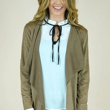 India Faux Suede Jacket