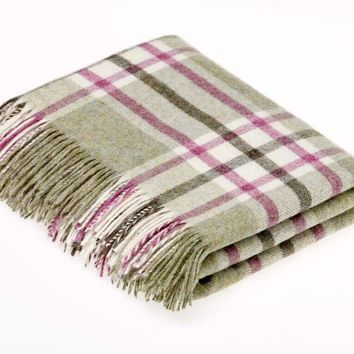 Shetland Quality - Pure New Wool - Arncliffe - Fern - Throw Blanket