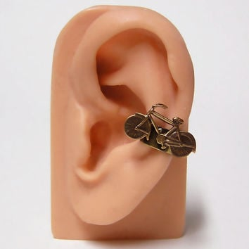tiny Bicycle Ear Cuff