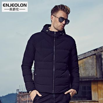 Winter Men windproof Parka Men Cotton Padded Hooded jacket male Thick Quilted Coat Men