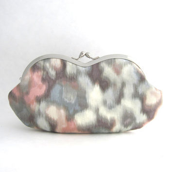 Sunglasses case - Eyeglasses Case - Frame Clutch Purse - Watercolor Pastel
