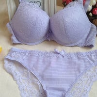 Set Ladies Lace Underwear Push Up Bra [9007930499]