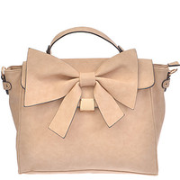 """Bow Lovely"" Bag - Beige"