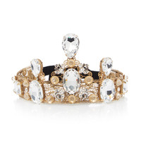 Corona Strass Brass And Crystal Tiara | Moda Operandi