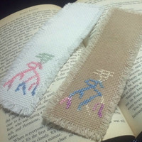 Cross Stitch Bookmark - 'Phoenix'-Thousands Years History Oracle Bone Script - Motley Multicolor Floss