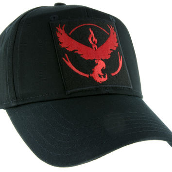 Team Valor Red Pokemon Go Hat Baseball Cap Alternative Clothing
