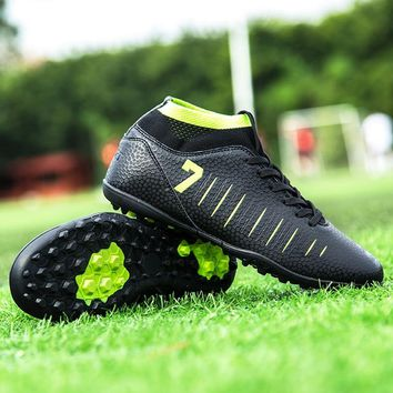 DR.EAGLE Professional Soccer Shoes Boot CR7 Superfly Football Boots Shoe Futsal Court Male Women Sneaker Kids Boys Cleats