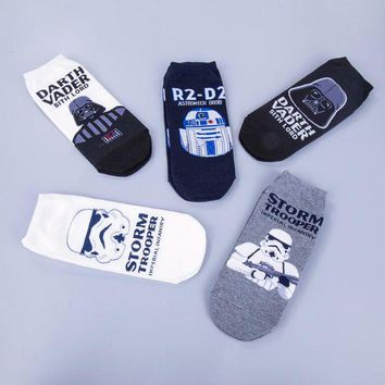 ONETOW Star Wars Patterns Cotton Casual Socks