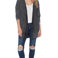 American Vintage Killy Cardigan in Charcoal