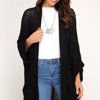 Passenger Side Cardigan - Black