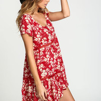 Floral Crochet Babydoll Dress - LoveCulture