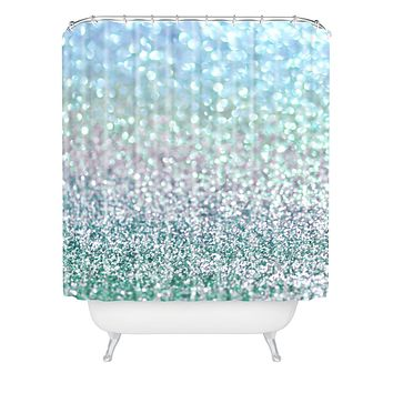 Lisa Argyropoulos Blue Mist Snowfall Shower Curtain