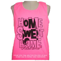 Girlie Girl Originals Sweet Home Alabama Neon Pink Tank Top