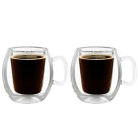 Luigi Bormioli Thermic Double-Wall Insulated Coffee Mugs (Set of 2)