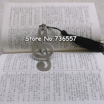 50pcs Silver Music Note Bookmark wedding Birthday Gifts Baby Shower Christening Birthday Favour For Guests souvenir