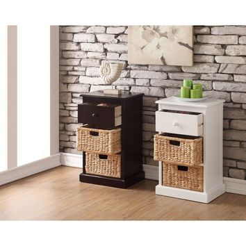 William's Imports Nina 1 Drawer and 1 Basket Storage Table | Overstock.com Shopping - The Best Deals on Decorative Organizers