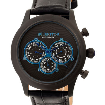 Heritor Automatic Men's Earnhardt Round Chronograph Watch, 42mm - Brown