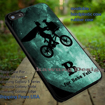 B for Boba Fett E T Parody Funny iPhone 6s 6 6s+ 5c 5s Cases Samsung Galaxy s5 s6 Edge+ NOTE 5 4 3 #movie #starwars dt