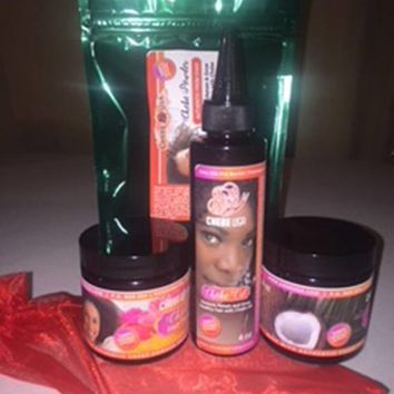 Chebe Hair Powder Paste Coconut Oil Package.  Please NOTE this is a 4 item Package.