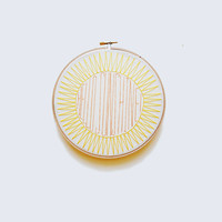 "HELLO SUNSHINE - Spring Colors - 7"" Embroidery Hoop"