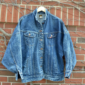 Lee Rider Indigo Denim Jacket made in USA