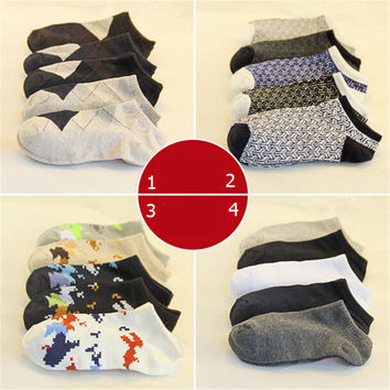 Fashion Casual Men Classic Comfortable Sports Ankle Socks Best Gift (5 PCS) Socks-48