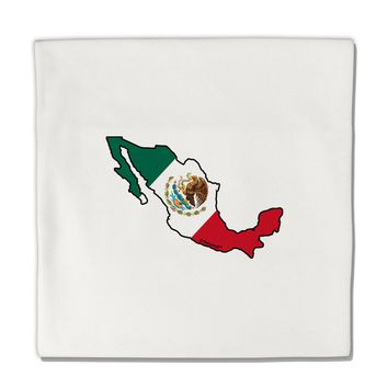 "Mexico Outline - Mexican Flag Micro Fleece 14""x14"" Pillow Sham by TooLoud"