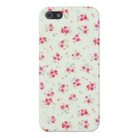 Vintage floral roses pink shabby rose chic flowers case for iPhone SE/5/5s